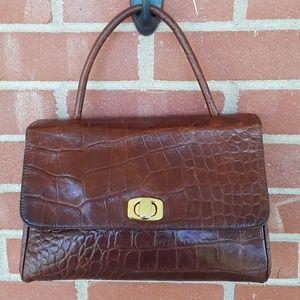 Vintage Perry Ellis leather satchel purse